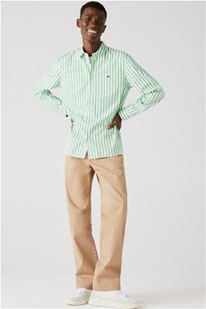 Lacoste ανδρικό πουκάμισο ριγέ με κεντημένο λογότυπο