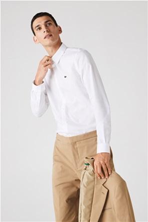 Lacoste ανδρικό πουκάμισο με κεντημένο λογότυπο Slim Fit