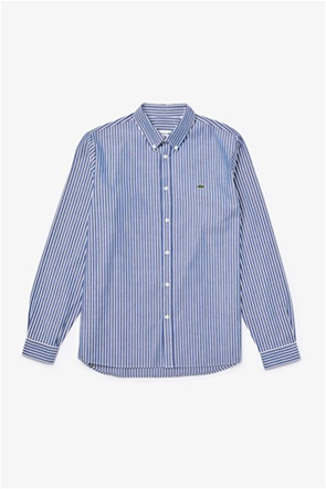 Lacoste ανδρικό ριγέ πουκάμισο με μακρύ μανίκι Regular Fit