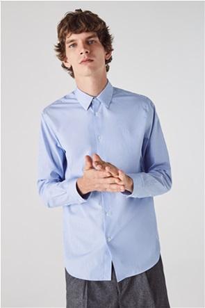 Lacoste ανδρικό ριγέ πουκάμισο με κεντημένο λογότυπο