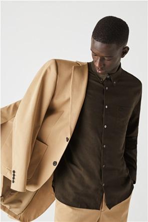 Lacoste ανδρικό πουκάμισο μονόχρωμο με μαλλί Regular Fit