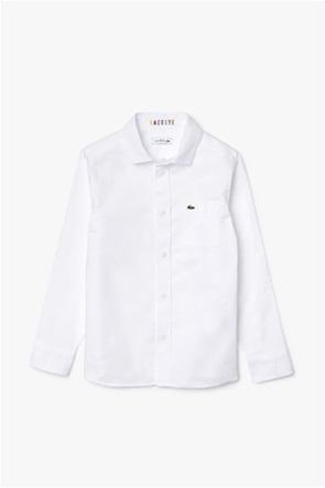 Lacoste παιδικό πουκάμισο με τσέπη στο στήθος