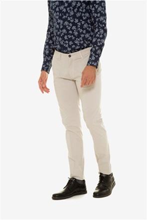 The Bostonias ανδρικό παντελόνι chinos με πουά λεπτομέρεια
