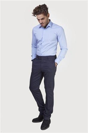 The Bostonians ανδρικό παντελόνι με ανάγλυφη υφή slim fit