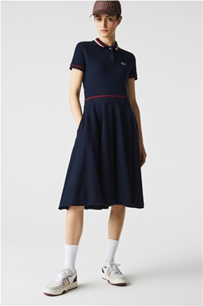 Lacoste γυναικείο midi φόρεμα πόλο με κεντημένο λογότυπο