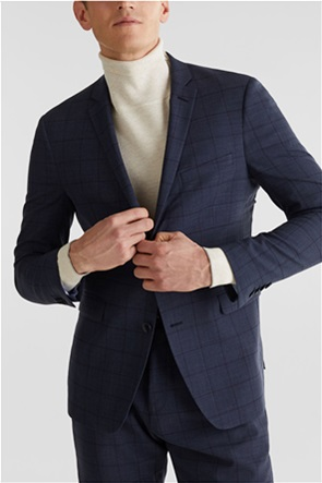 Esprit ανδρικό σακάκι με καρό σχέδιο