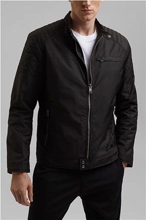 Esprit ανδρικό biker jacket με καπιτονέ λεπτομέρειες