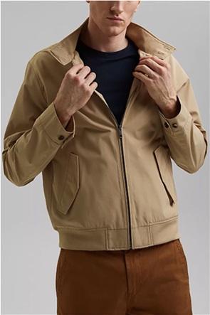 Esprit ανδρικό jacket μονόχρωμο με ψηλό λαιμό και flap τσέπες
