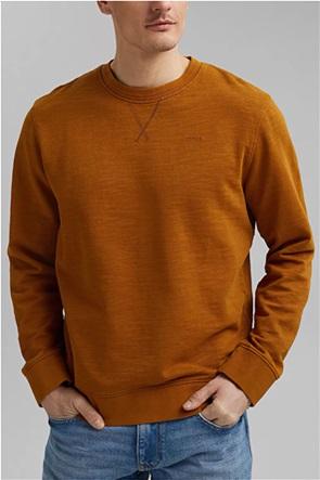 Esprit ανδρική μπλούζα φούτερ μονόχρωμη