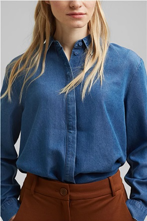 Esprit γυναικείο denim πουκάμισο Loose Fit