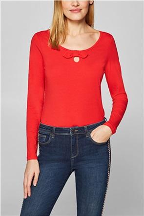 Esprit γυναικεία μπλούζα με φιογκάκι