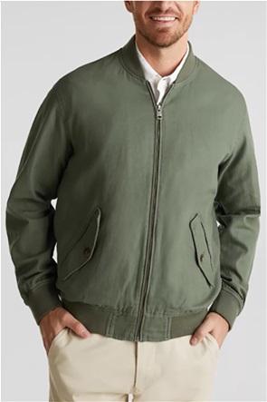 Esprit ανδρικό λινό bomber jacket