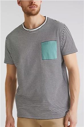Esprit ανδρικό ριγέ  T-shirt με λινό