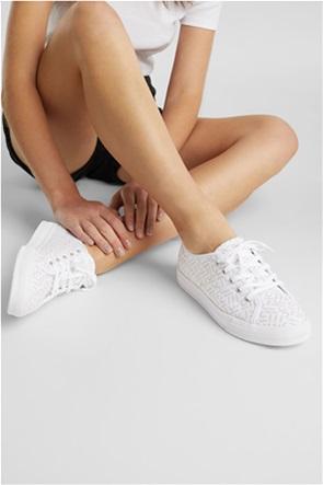 Esprit γυναικέια πάνινα sneakers με all-over logo print