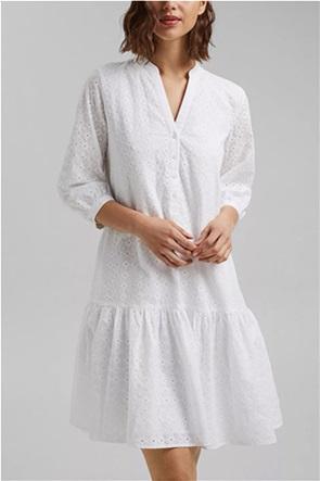 Esprit γυναικείο mini φόρεμα με δαντέλα κιπούρ