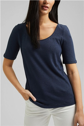 Esprit γυναικείο T-shirt λινό