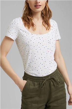 Esprit γυναικείο T-shirt με μικροσχέδιο