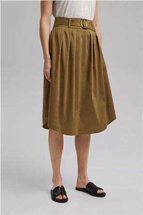 Esprit γυναικεία midi φούστα με ζώνη