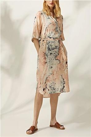 Esprit γυναικείο midi φόρεμα με marble print