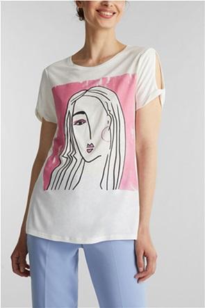 Esprit γυναικείo T-Shirt με face print