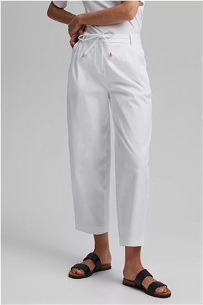 Esprit γυναικείο cropped παντελόνι μονόχρωμο
