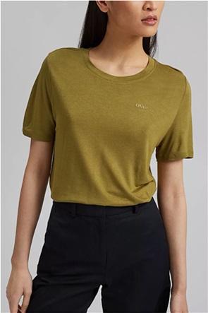 Esprit γυναικείο T-shirt με ton-sur-ton lettering