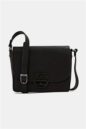 Esprit γυναικεία τσάντα ώμου με flap κλείσιμο