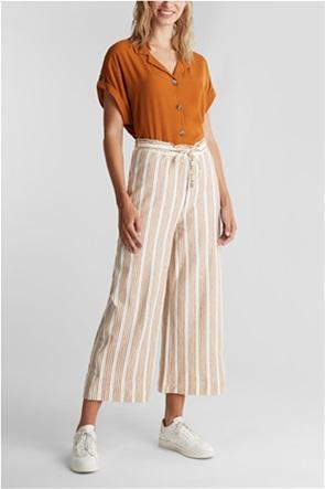 Esprit γυναικείο παντελόνι Culotte με ριγέ σχέδιο