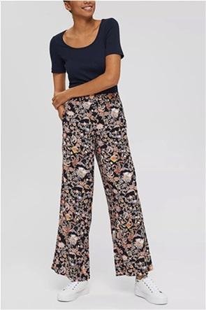 Esprit γυναικεία παντελόνα με all-over floral print