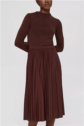 Esprit γυναικεία midi φούστα πλισέ με ελαστική μέση