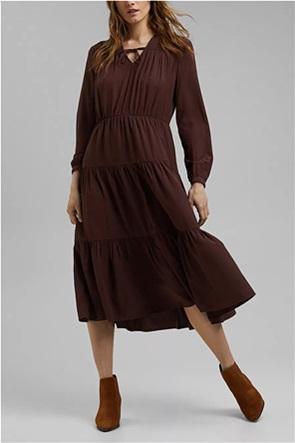 Esprit γυναικείο midi φόρεμα με ανάγλυφο πουά σχέδιο
