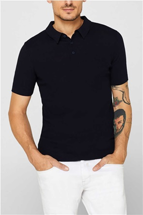Esprit ανδρική πλεκτή πόλο μπλούζα κοντομάνικη