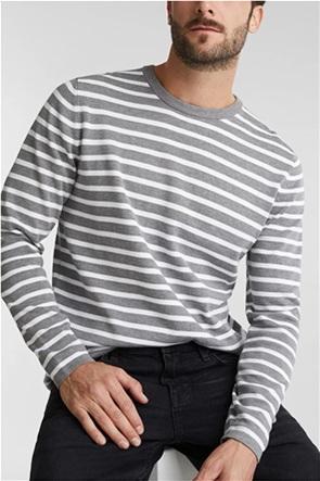 Esprit ανδρική μπλούζα πλεκτή με ριγέ σχέδιο