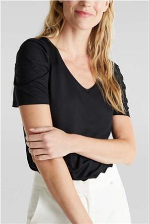 Esprit γυναικεία μπλούζα με balloon μανίκια
