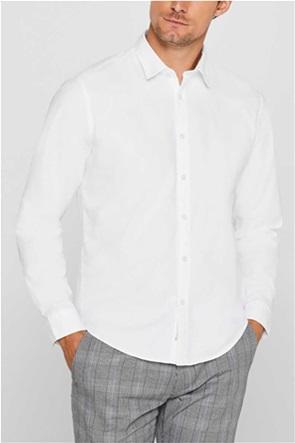 Esprit ανδρικό πουκάμισο μονόχρωμο