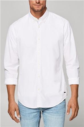 Esprit ανδρικό πουκάμισο μονόχρωμο slim