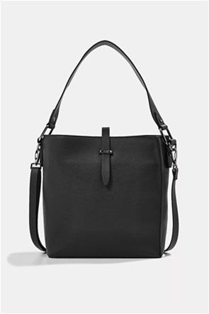 Esprit γυναικεία τσάντα ώμου faux leather