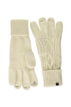 Esprit γυναικεία γάντια με σχέδιο στην πλέξη