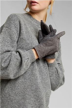 Esprit γυναικεία γάντια με logo print