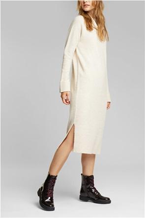 Esprit  γυναικείο midi φόρεμα πλεκτό με ζιβάγκο