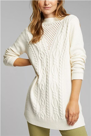 Esprit γυναικείο πουλόβερ με πλεξούδες