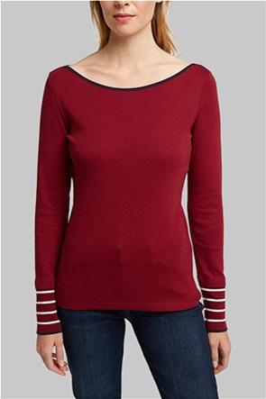 Esprit γυναικεία μπλούζα με contrast ρίγες