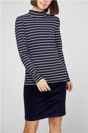Esprit γυναικεία μπλούζα με ριγέ σχέδιο και puff μανίκια