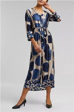 Esprit γυναικείο midi φόρεμα σατινέ με all-over print