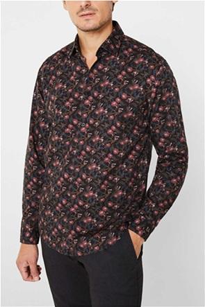Εsprit ανδρικό πουκάμισο με μικροσχέδιο slim fit