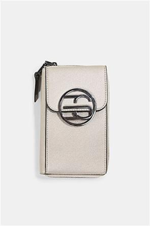 Esprit γυναικεία τσάντα crossbody με μεταλλικό λογότυπο