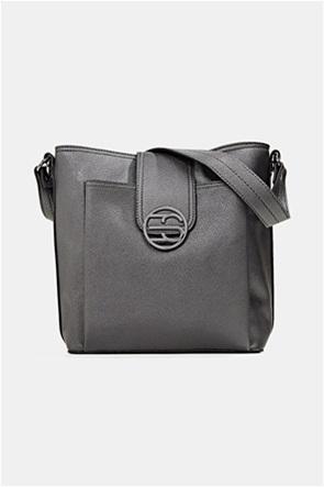 Esprit γυναικεία τσάντα ώμου με μεταλλικό λογότυπο