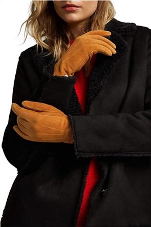 Εsprit γυναικεία γάντια suede με διακοσμητικές ραφές