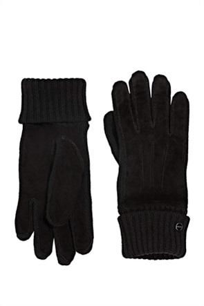 Esprit γυναικεία γάντια μονόχρωμα με διακοσμητικές ραφές
