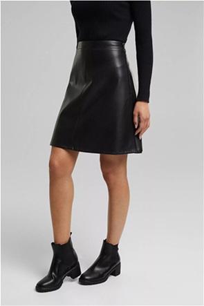 Esprit γυναικεία mini φούστα faux leather
